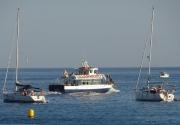 Vaixells a la Badia de Blanes