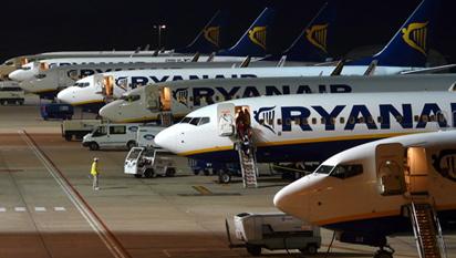 Avions de Ryanair a l'Aeroport de Girona / Foto: Josep Ventura