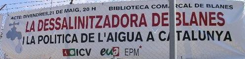 EUiA-ICV celebró un acto político sobre el coste del agua en Blanes