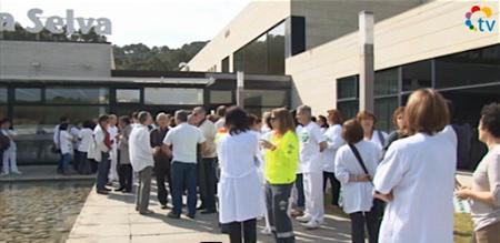 Protesta de los empleados del Hospital de Blanes / Foto: Archivo Blanesaldia