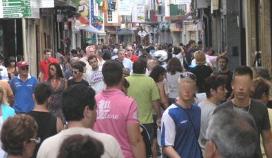 Un dels carrers comercials de Lloret