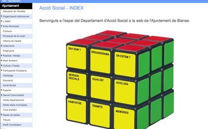 Imatge del nou espai web