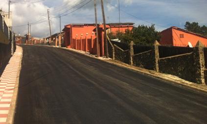 Un dels carrers que ja s'ha asfaltat / foto: Ajuntament de Vidreres