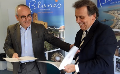 Josep Marigó i Joan Campolier, avui a la Ciutat Esportiva de Blanes