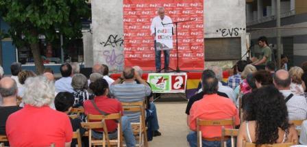 Intervención de Cayo en Lloret de Mar / Foto: EUiA