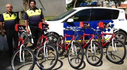 Els instructors del curs i les bicicletes