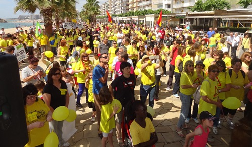 Manifestació a Blanes en defensa de l'escola publica, el 9 de juny de 2013