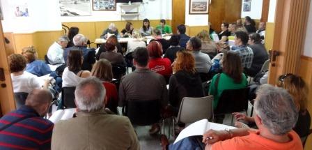 Imagen de la runión celebrada ayer en Ca la Guidó / Foto: JFG