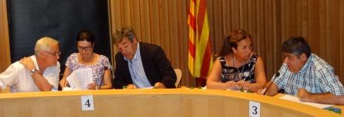 El grupo municipal de CiU, en la imagen, votó a favor junto con el equipo de gobierno