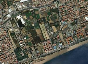 Foto aèria del pla parcial pp1 de Pineda de Mar
