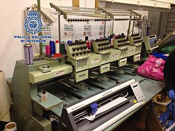 En vidreres se localizó el taller de falsificación / Foto: Policía Nacional