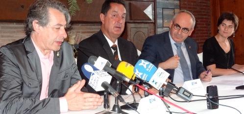 D'esquerra a dreta Arseni Frigola, Romà Codina, Josep Marigó i Lara Torres / Foto: JFG