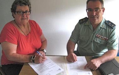 Moment de la firma del conveni / Foto: Ajuntament de Tossa