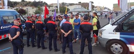 Imatge de la protesta contra el conseller Puig / Foto: JFG