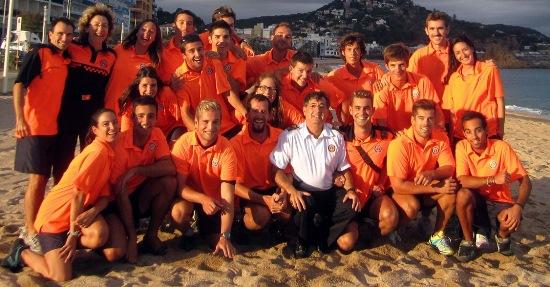 L'equip de socorristes, amb el cap de Protecció Civil Josep Lluis Pouy