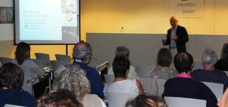 Imatge de la conferència de Josep Marès / Foto: Ajuntament de Blanes
