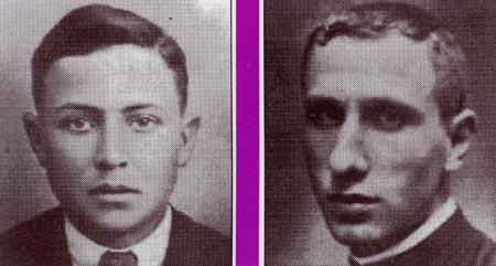 A l'esquerra Sebastià Llorens i a la dreta el Pare Puig