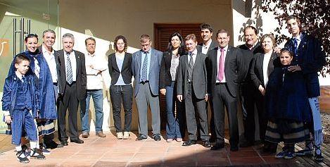 Autoritats assistents a la inauguració de la Fira de l'Olla