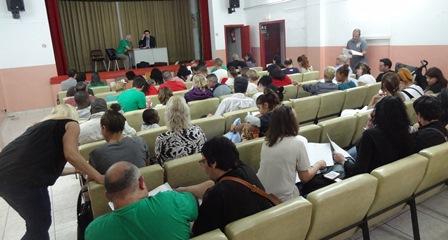Assemblea de la PAH de Blanes / Foto: JFG