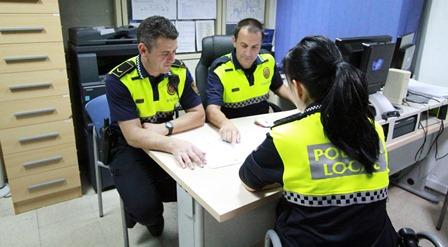 Agemts de la policia local de Blanes