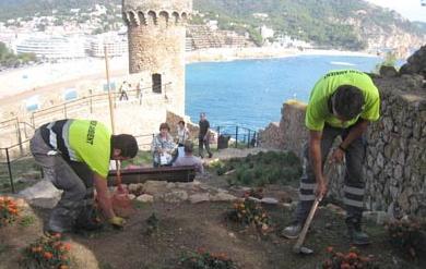 Treballs de rehabilitació de la Vila Vella endegats per l'Ajuntament