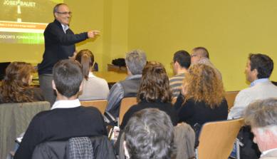 Josep Baijet durant la xerrada