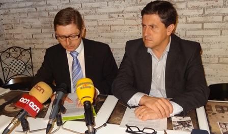 Salvador Balliu i Jordi Orotig, avui durant la roda de premsa / Foto: JFG