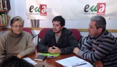 Marian Anguita, coordinadora d'EUiA de Blanes, Víctor Catalan i