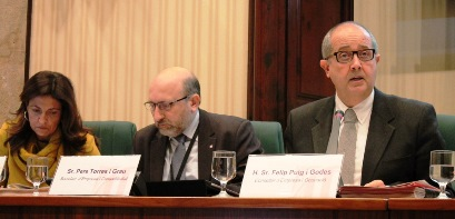 El conseller Puigen la compareixença al Parlament