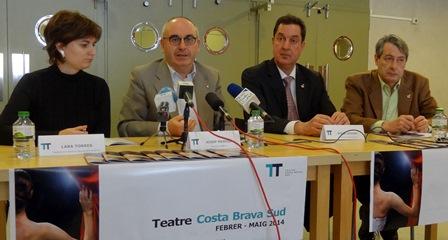 Lara Torres, Josep Marigó, Romà Codina i Arseni Frigola, avui al Teatre de Blanes