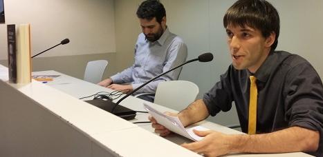 Efrem Gordillo, durant la presentació del seu llibre / Foto: Aitor Roger