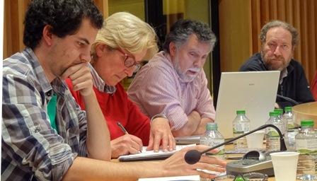 Concejales de EUiA-ICV, ayer en el pleno / Foto: JFG