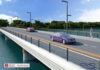 Imatge virtual de l'ampliació del pont