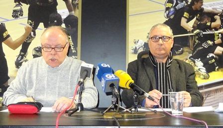 Anselmo Ramos y Josep Ridaura, ayer durante la rueda de prensa / Foto: JFG