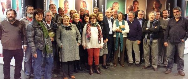 Representants de les entitats blanencas amb Josep Marigó, Susana Ramajo i la regidora Amparo Ardanuy