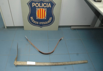 Objectes intervinguts als detinguts / Foto: Mossos d'Esquadra