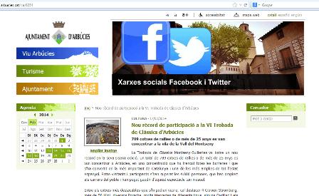 Web de l'Ajuntament d'Arbúcies
