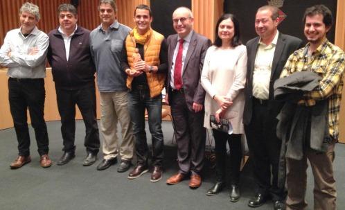 Xavi Marina, al l'alcalde Marigó, regidors i regodires de l'Ajuntament