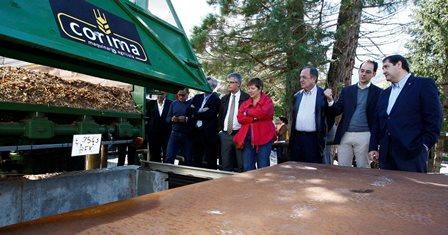 inauguració del centre de la xarxa de distribució de calor de Ribes de Freser, del passat mes d'octubre / Foto: Pere Duran