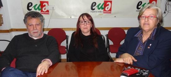 Joan Salmerón, Dolors Rubio y Marián Anguita / Foto: JFG