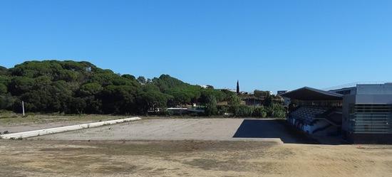 Zona de la Ciudad Deportiva en la que se construirá el campo de fútbol / Foto: JFG