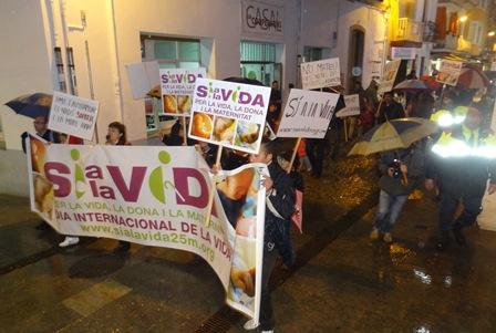 Imatge de la manifestació / Foto: JFG - Blanesaldia.com