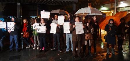 Concentració silenciosa convocada per la Xaexa de Lluita pels Drets Socials / Foto: JFG - Blanesaldia.com