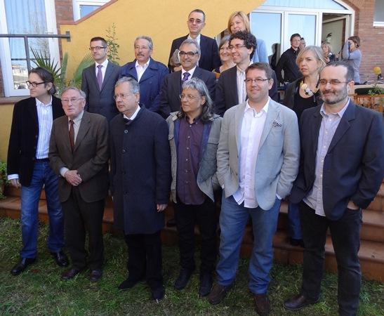 Els guanyadors dels Premis Literaris Recvll i els membres del jurat / Foto: JFG