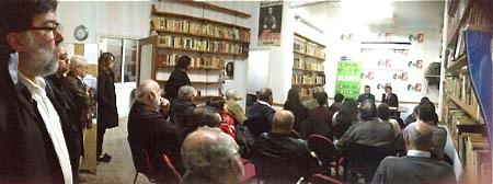 Imatge de l'acte, a la seu d'ICV-EUiA de Blanes