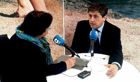 El regidorde Turisme Jordi Orobig, entrevistat al SITC per la COPE