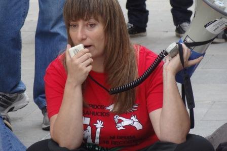 Marta Afuera, en la Plaza de España de Blanes el 11 de mayo de 2013/ Foto: JFG