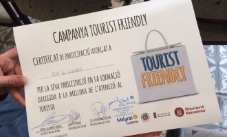 Imatge del certificat acredidatiu de 'Tourist Friendly'