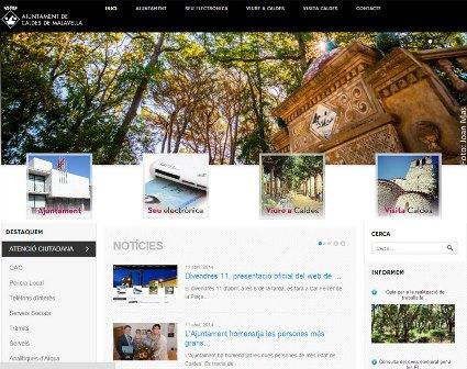 Imatege d'una de les pàgines de la publicació digital de l'Ajuntament de Caldes
