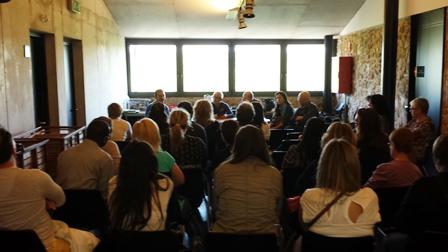 Imatge de l'assemblea celebrada ahir a Hostalric